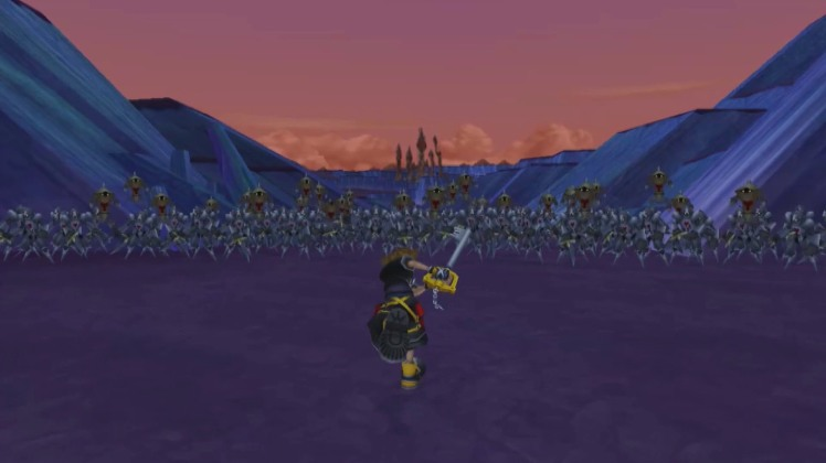 KH 2 VS 1000 Heartless fight