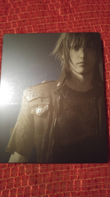 Noctis is on the front of the game's case.