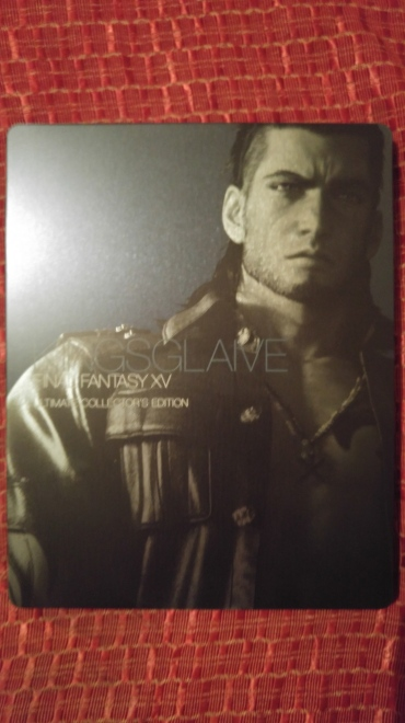 Gladiolus is on the back of the case.