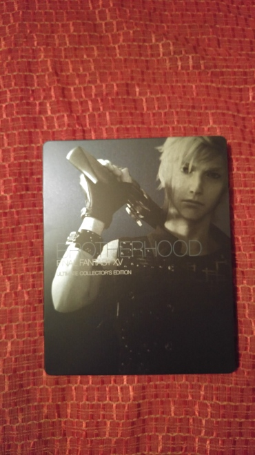 Prompto is on the front of the case.