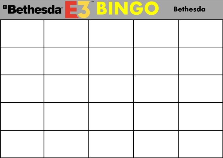 E3 Bingo Card (Bethesda) Template