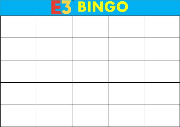 E3 Bingo Card (Every Show) Template