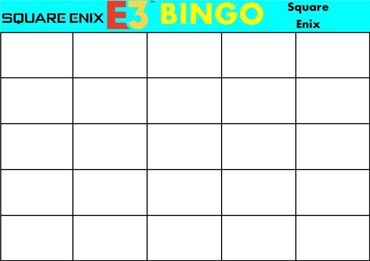 E3 Bingo Card (Square Enix) Template