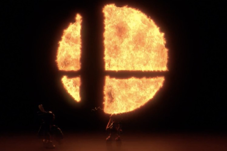 Super Smash Bros Switch screen