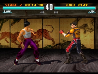 Law vs Jin Tekken 3 screen