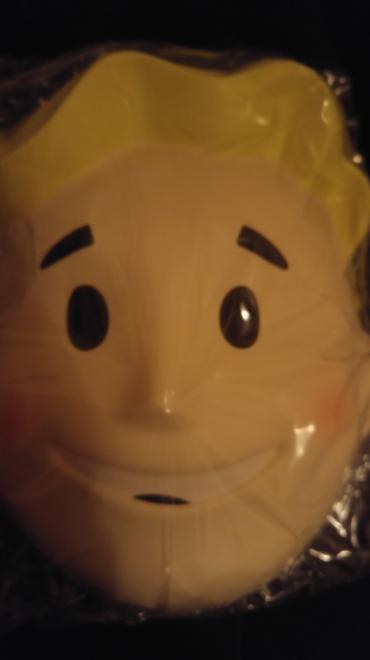 A Vault Boy mask.