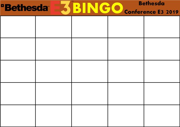 E3 2019 Bingo Card (Bethesda)