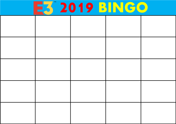 E3 2019 Bingo Card (Every Show).png