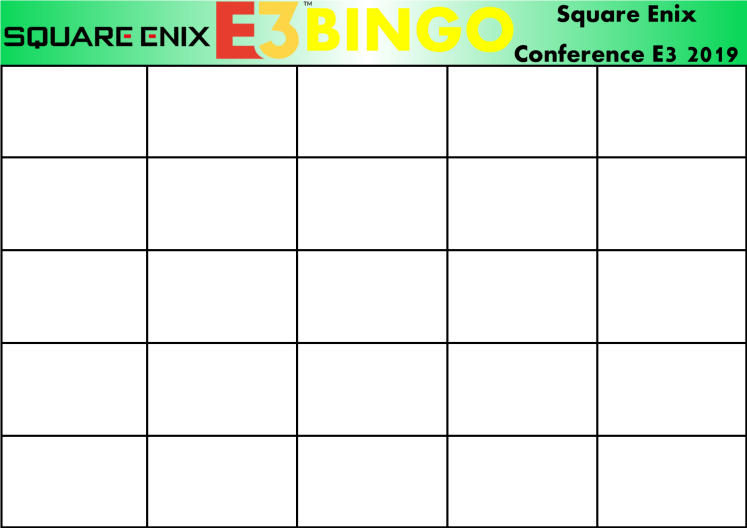 E3 2019 Bingo Card (Square Enix).png